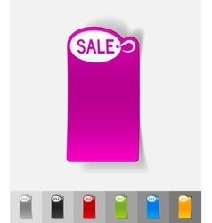 Realistic design element plate sale vector