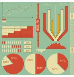 Retro elements for infographics vector image vector image