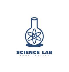 science lab logo vector image vector image