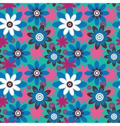 Seamless colourfull flower pattern vector