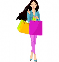 Shopping diva vector