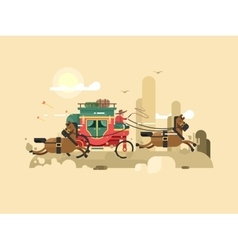 Stagecoach design flat vector
