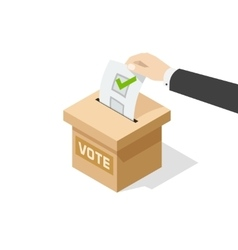 Voting man hand political vector image