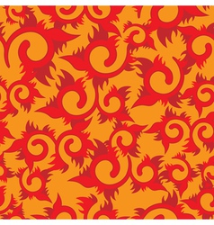 seamless floral fire vector image