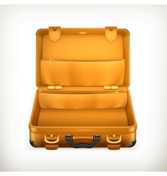 Open suitcase vector