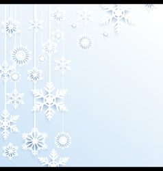 Hang christmas snowflakes background vector