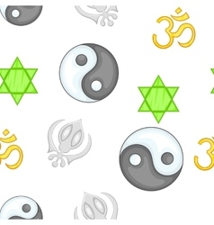 Religious faith pattern cartoon style vector