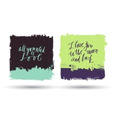 Grunge brush banners with lettering vector
