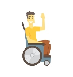Guy in wheelchair young person with disability vector