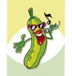 cucumber singing vector image