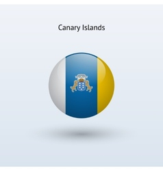 Canary islands round flag vector