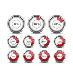 Progress indicators vector
