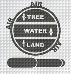 EARTH LAND WATER TREE AIR EPS10 vector image