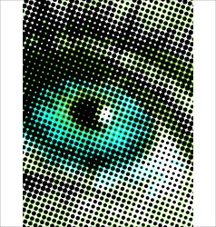 Eye halftone dots vector