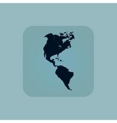 Pale blue america icon vector