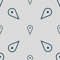 Map poiner icon sign seamless pattern with vector
