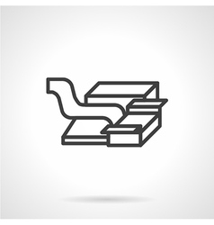 Packaging machine abstract icon vector