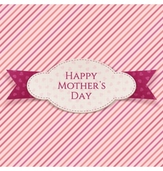 Happy mothers day realistic banner template vector