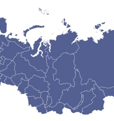 Russian regions map vector