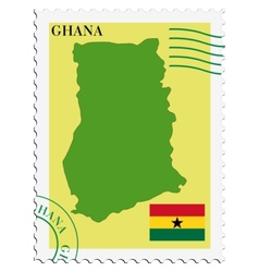 mail to-from Ghana vector image