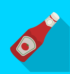 a bottle of ketchupbbq single icon in flat style vector image