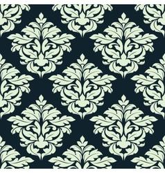 Beige floral damask seamless pattern vector