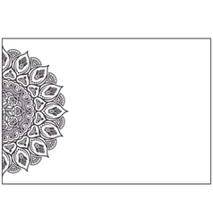 Business card pattern Vintage mandala vector image