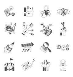 Business teamwork concept black icons set vector