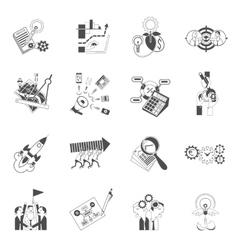 Business teamwork concept black icons set vector image vector image