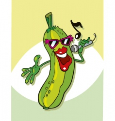 cucumber singing vector image vector image