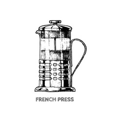 french press vector image vector image
