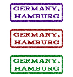 Germany hamburg watermark stamp vector