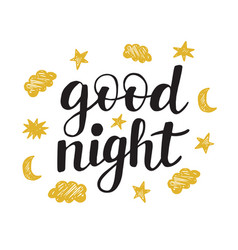 good night modern ink lettering vector image vector image