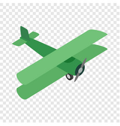 green plane isometric icon vector image vector image