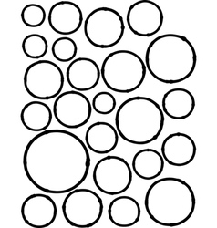 hand-drawn liquid line circle shapes over white vector image