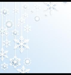 Hang christmas snowflakes background vector image vector image