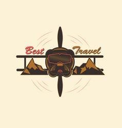 Logo best travel vector