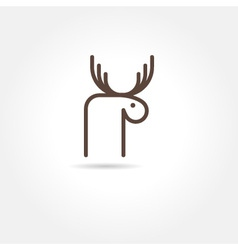 Moose icon vector