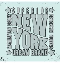 New york vintage stamp vector