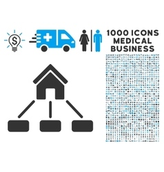 Realty Links Icon with 1000 Medical Business vector image vector image