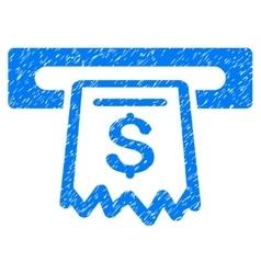 Receipt terminal grainy texture icon vector