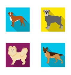 Retriever terrier pomeranian and other web icon vector