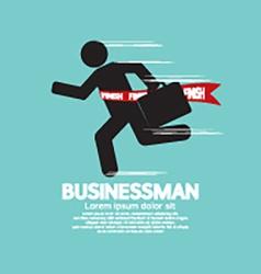 Running Businessman Symbol vector image vector image