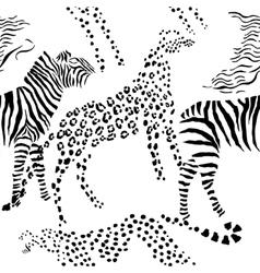 Seamless pattern savanna animals vector image vector image