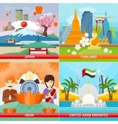 Set of Traveling Concepts in Flat Design vector image vector image