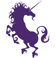 Silhouette of a unicorn vector