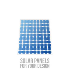 Solar panels for your design vector