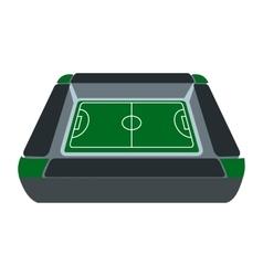 Square soccer field icon vector