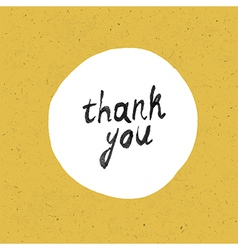 thank you card yellow paper vector image vector image