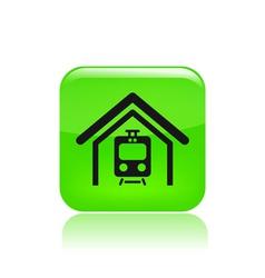 train icon vector image vector image